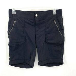 Athleta Black Nylon Athletic Shorts 12